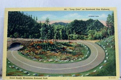 Great Smoky Mountains National Park Newfound Gap Highway Postcard Old Vintage PC