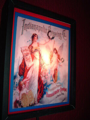 Indianapolis Brewing Co. Beer Tavern Bar Man Cave Adverising Lighted Sign