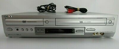 Sony SLV-D300P DVD Player VHS Recorder Combo W/ Cords