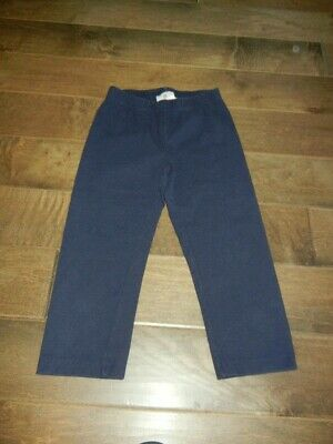 HANNA ANDERSSON navy blue capris cropped leggings, 140 (10)