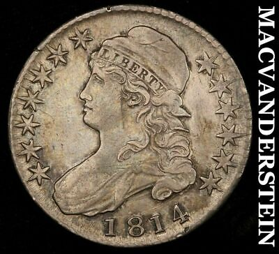 1814 Capped Bust Half Dollar- O-103!! Semi-Key!! Almost Uncirculated!!  #H5624