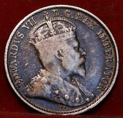 1906 Canada 5 Cents Silver Foreign Coin
