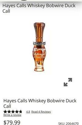 HAYES CALLS WHISKEY BOB WIRE ACRYLIC POLY DUCK CALL DOUBLE REED PANTY DROPPER