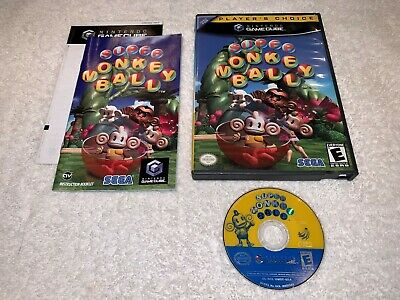 Super Monkey Ball (Nintendo GameCube, 2001) Player's Choice Complete Excellent!