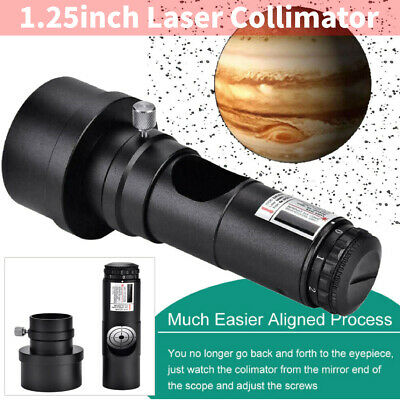 1.25'' Laser Collimator + 2'' Adapter 7 Levels Bright for Newtonian Telescopes