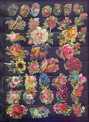 Nice Packet of Victorian Die Cut Scraps,Roses (RB11)