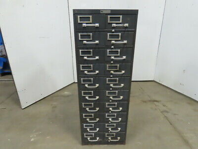 Steelmaster Art Steel 5 Double Drawer File Card Small Parts Storage Cabinet