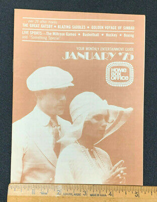 1975 January Hbo Home Box Office Movie Guide Booklet (As) Amazing Great Gatsby!