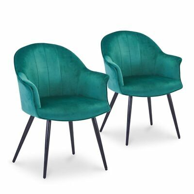 PARIS PRIX Lot De 2 Fauteuils Design Velours