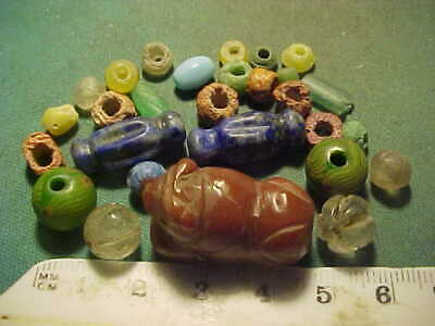 25+ Ancient beads circa 1000 BC- 1700 AD +  an ancient amulet