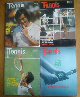 FOUR issues of British Tennis Magazine from 1976 and 1977