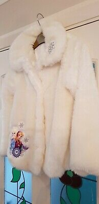 Girls 'Disney Store' Fur Jacket: Aged 9-10 Years: Excellent Condition,Worn Twice