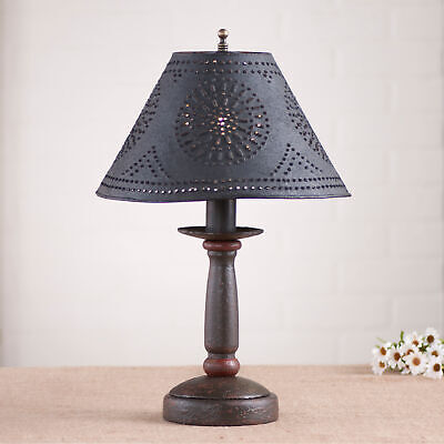 Butcher's Lamp in Americana Black with Shade