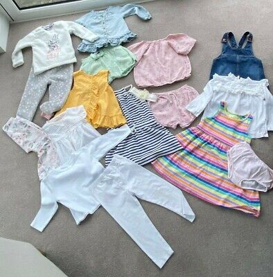 Bundle of Girls Cloths Age Zara Baby Next M&S Disney 1-2 years & 2-3 Years