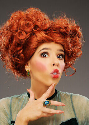 Womens Hocus Pocus Style Curly Ginger Witch Wig