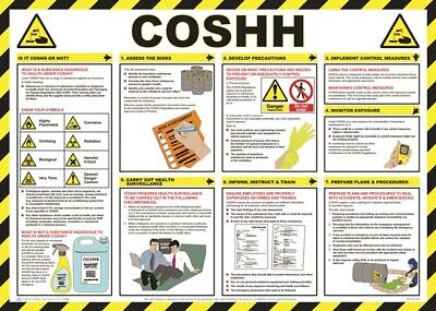 COSHH Awareness Poster - 59cm x 42cm A704T SAFETY FIRST AID