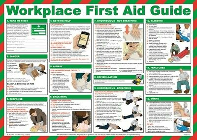 Workplace First Aid Guide Poster - 59cm x 42cm A600T SAFETY FIRST AID