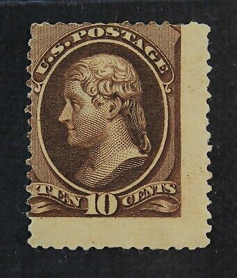 CKStamps: US Stamps Collection Scott#209b 10c Jefferson Mint HR OG Tiny Thin