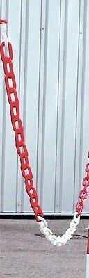 Plastic Chain - Red/White - 25m FBRWC6 SIGNS & LABELS