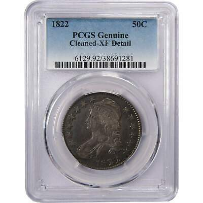 1822 50c Capped Bust Silver Half Dollar Coin XF EF Extremely Fine Details PCGS