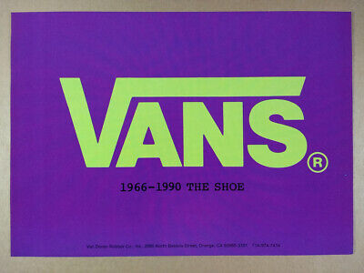 1990 Vans 1966-1990 The Shoe logo art vintage print Ad