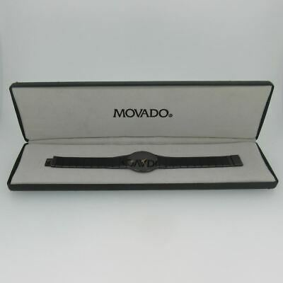 Movado 84-40-880 A Swiss Quartz Black Stainless Steel Watch with Box