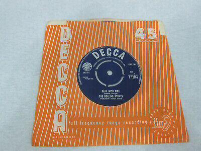 Rolling Stones The Last Time  Play With Fire Ex Decca F.12104  1965