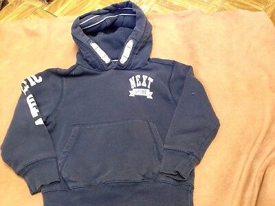 Next Boys Blue Long Sleeve Hooded Top Size 5 Years Good Condition