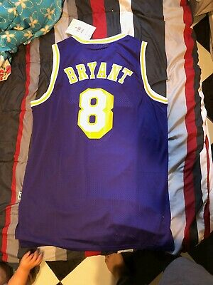 Rare Los Angeles Lakers #8 Kobe Bryant Throwback Purple Jersey Adult Size L