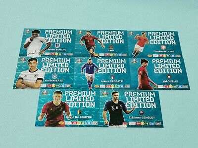 Panini Adrenalyn XL Uefa Euro EM 2020 Set 3 - 8 x Premium Limited Edition