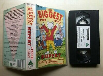 The Biggest Ever Video - Rupert - Vhs Video