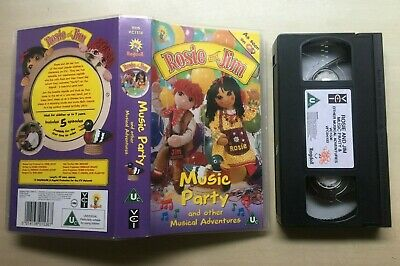 Rosie And (&) Jim - Music Party - Vhs Video