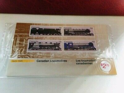 Canada Thematic Collection #35, 1986 Canadian Locomotives folder CV $6