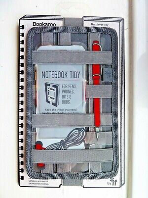 Bookaroo Notebook Tidy For Pens, Phones, Bits And Bobs Charcoal Grey