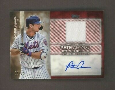 2020 Topps Series One Pete Alonso Jersey Signed AUTO 24/25 New York Mets