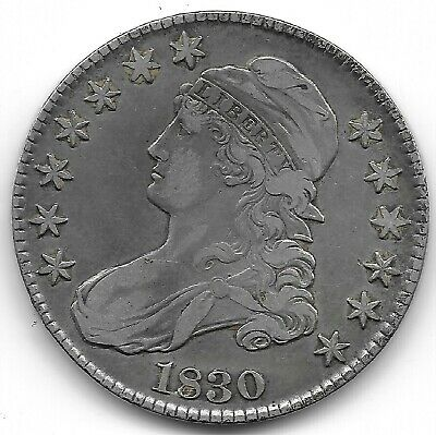 1830 Small 0 Capped Bust Half Dollar