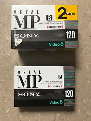 3x Sony 8mm Metal MP 120 Video 8 Cassette Tape New Sealed