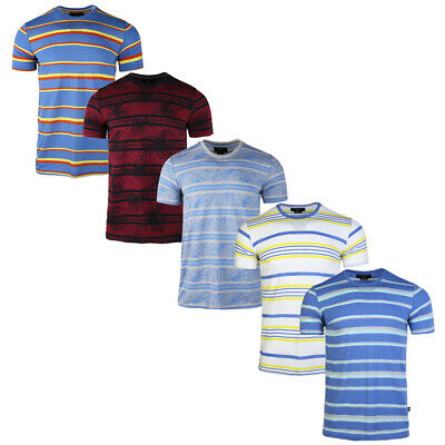 2020 Summer Men's Stripe Ribble T-Shirts Cotton Casual Jersey Tee Top