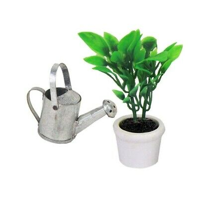 Miniature Quality Aged Metal Watering Can DOLLHOUSE Garden Miniatures 1:12