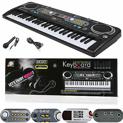 Musical Keyboard Piano 54 Keys Electronic Electric Digital Beginner Adult Gift K