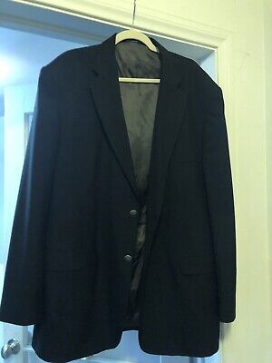 STAFFORD Blazer Solid Black 48L [LIGHT USE] Sport Coat, Suit Jacket