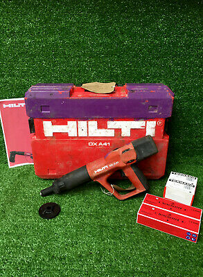 HILTI DX A41 F8 Nail Gun  Cartridge Hammer C/W 200 Nails & Cartridges  REF 8170A