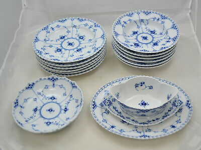 Royal Copenhagen Vollspitze - Blue fluted full lace - Speiseservice 6 pers.