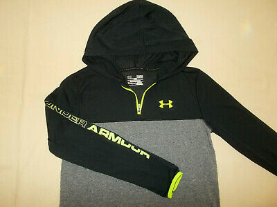 Under Armour Threadborne Gray Long Sleeve Lightweight Hoodie Boys Large Excell.