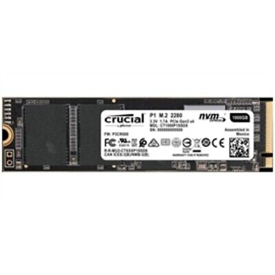 Crucial Solid State Drive CT1000P1SSD8 P1 1TB 3D NAND NVMe PCI-express M.2 SSD R