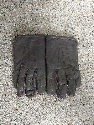 Vintage Fownes Taupe/brown Leather Gloves Women's Size L
