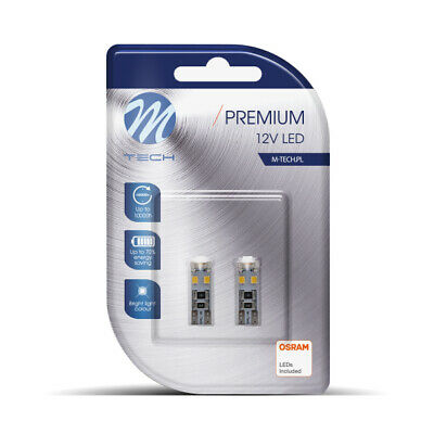 2x OSRAM LED - M-tech LB312W 5W T10 12V PREMIUM Weiss Blisterverpackung   CanBus