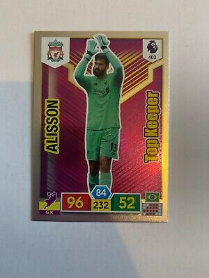 Panini Adrenalyn Xl Premier League 2019/20 Alisson Top Baller Card