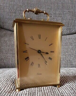 Vintage Brass SWIZA 8 day Alarm Clock - complet