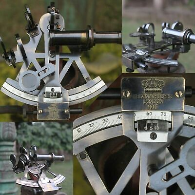 Solid Brass Sextant Vintage Marine Working German Sextant Ship Instrument